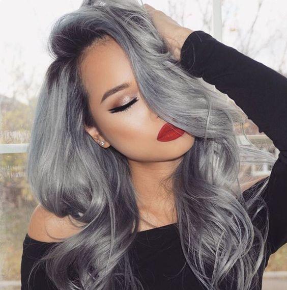 cabelo cinza grey hair 7