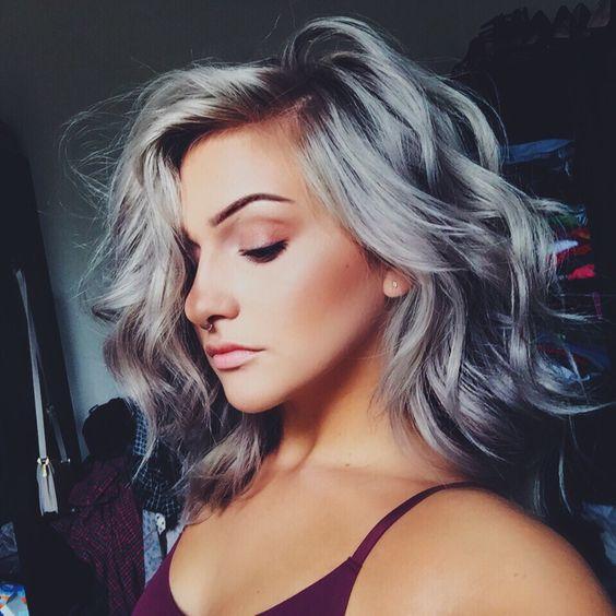 cabelo cinza ombre