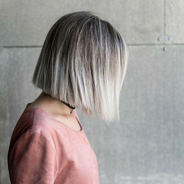 corte reto 3 cabelo cinza
