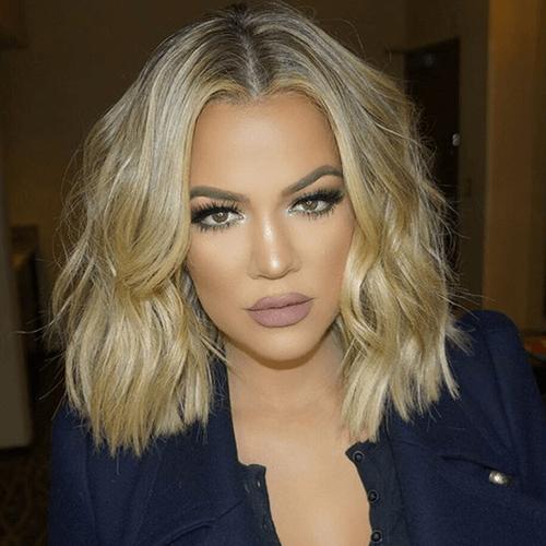 khloe kardashian corte reto cabelo