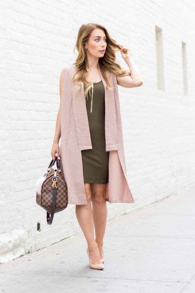 blush-pink-army-green-summer-fall-transitional-outfit