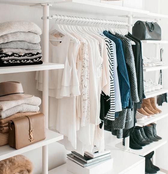 roupa closet armário capsula inteligente